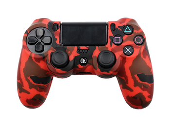 Coque de protection manette PS4 CRIMSON RED CAMO