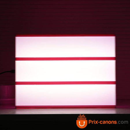 Lightbox Cinema LED rose - Prix-Canons