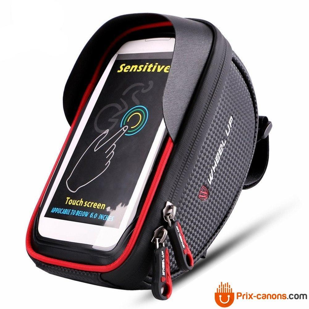 6 Inch 360 Degree Rotatable Waterproof Mobile Phone Pouch Touch Screen Bike Bag Cycling Frame Bag Handlebar