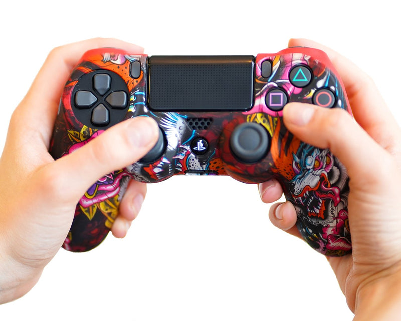 Coque de protection manette PS4 ROSE DRAGON