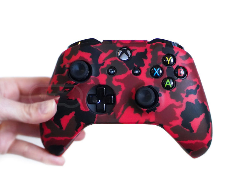 Coque de protection manette XBOX CRIMSON RED CAMO