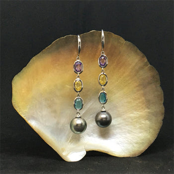 Earrings 3 colors and pearls
