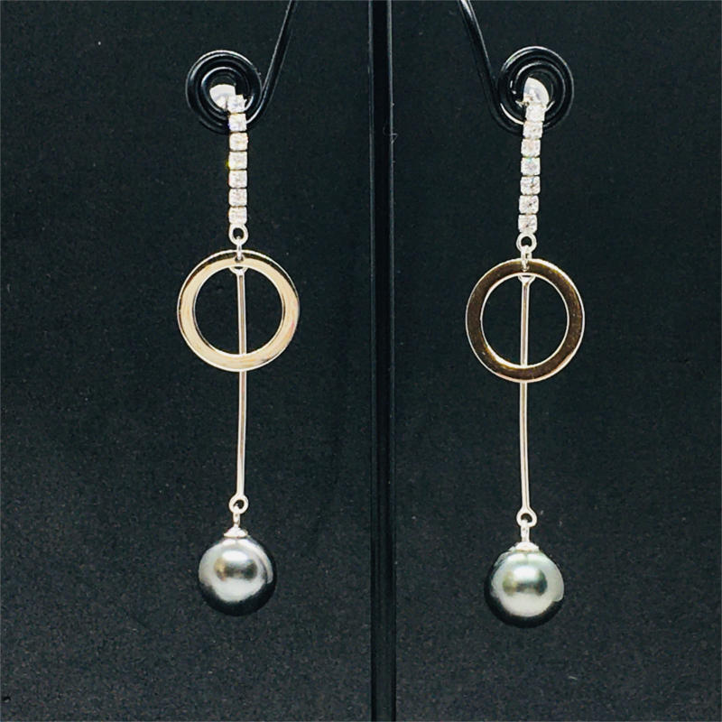 Earrings cercle and pearl