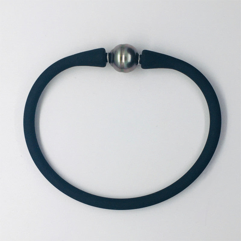 Bracelet for Men & Women with a circled Tahitian pearl