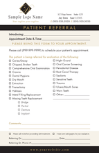 General Dentistry Referral Pad