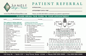 Oral Surgery Referral Pad