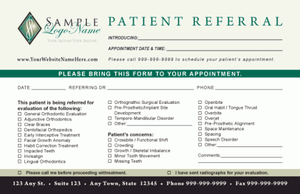 Orthodontic Referral Pad