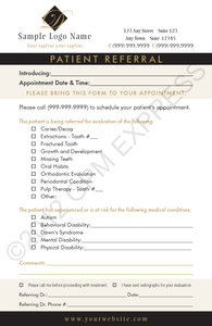 Pediatric Referral Pad