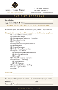 Periodontal Referral Pad