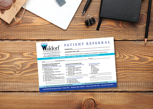 Prosthodontics Referral Pad