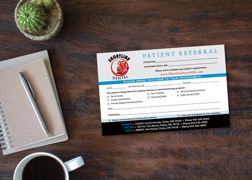 Sedation Dentistry Referral Pad