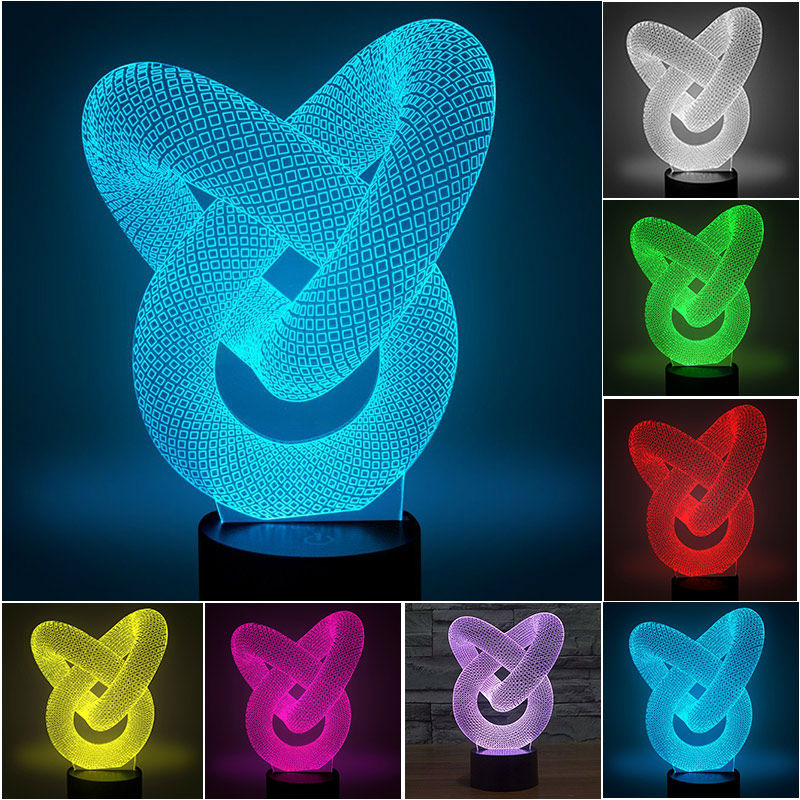Stars Wars 3D Optical Illusion LED Lamp