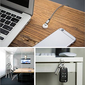 Magnetic Keychain Holder with Easy Adhesive Installation (6 pc)