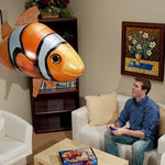 Flying Toy Fish Aluminum Balloon with Remote Control