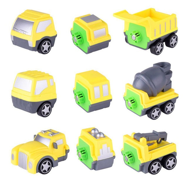 Magnetic Construction Truck Set