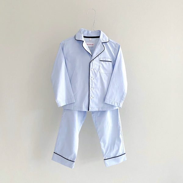MEL PYJAMAS SET // CHILDREN // LIGHT BLUE COTTON POPLIN