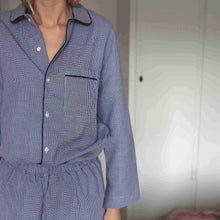 PYJAMAS SET // WOMEN // BLUE & WHITE CHECKS