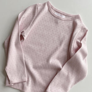 ELLY PYJAMAS BLOUSE // CHILDREN // PINK CLOUD ORGANIC POINTELLE JERSEY