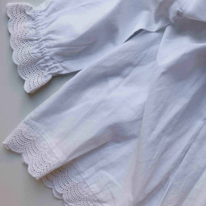 Kids dress white cotton lace