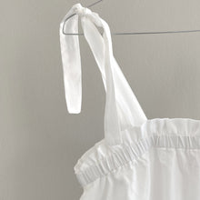 TIE-DETAIL DRESS // WOMEN // WHITE COTTON VOILE