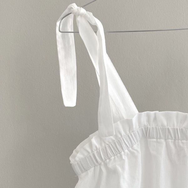 MAY TIE-DETAIL DRESS // WOMEN // WHITE COTTON VOILE