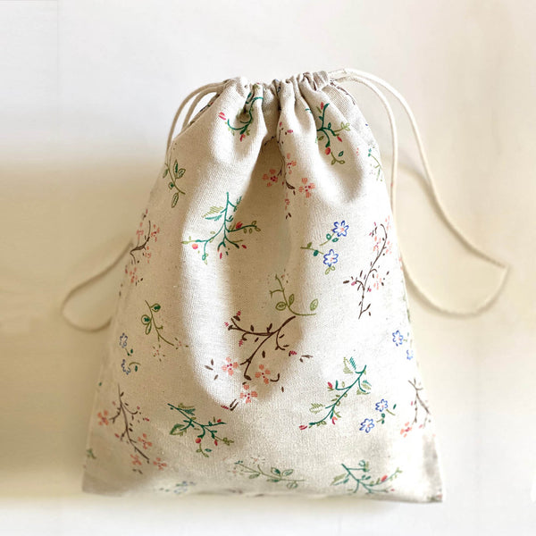2-pack cotton bags floral