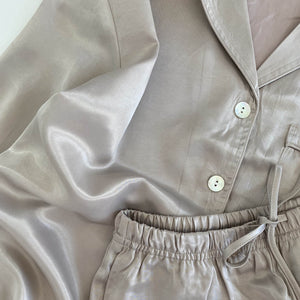 SILK PYJAMAS SET // WOMEN // PEARL
