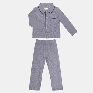 PYJAMAS SET // KIDS // BLUE & WHITE SMALL CHECKS