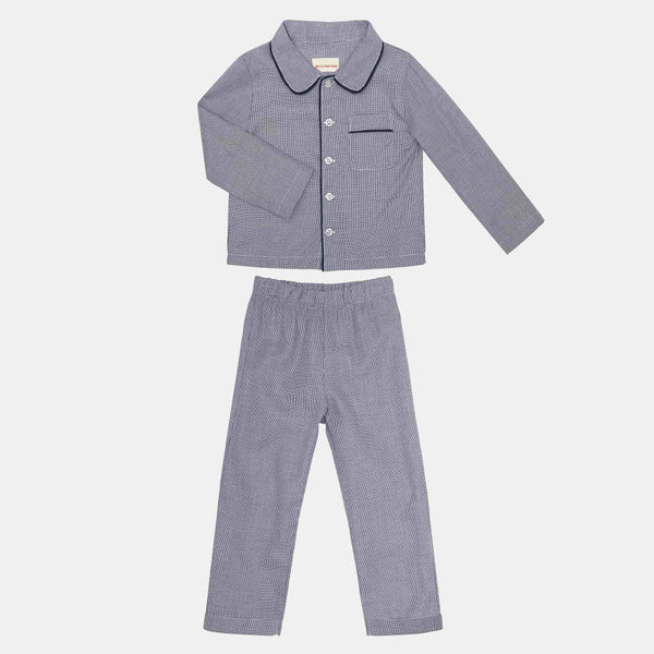 PYJAMAS // KIDS // BLUE & WHITE SMALL CHECKS