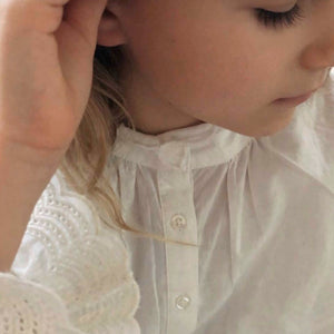 DRESS // KIDS // WHITE COTTON LACE