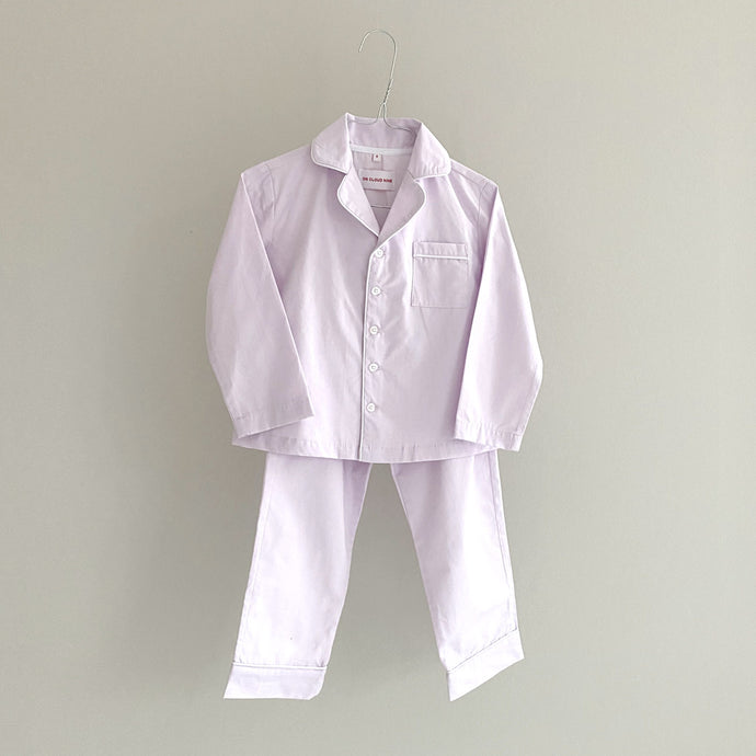 MEL PYJAMAS SET // CHILDREN // LIGHT LAVENDER COTTON POPLIN