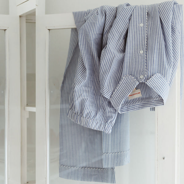 WOMEN // PYJAMAS SET //  BLUE & WHITE STRIPE