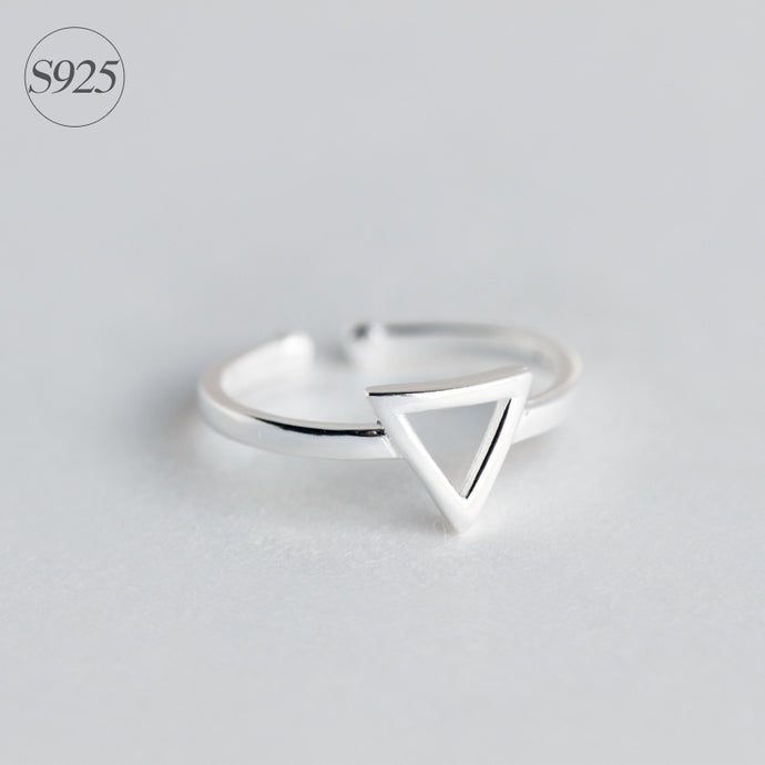 Sterling Silver Open Triangle Adjustable Ring