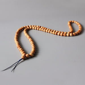 Tibetan Buddhist Meditation Mala with 108 Natural Wooden Beads