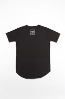 Egg London Abstract Lines Black Logo T-shirt