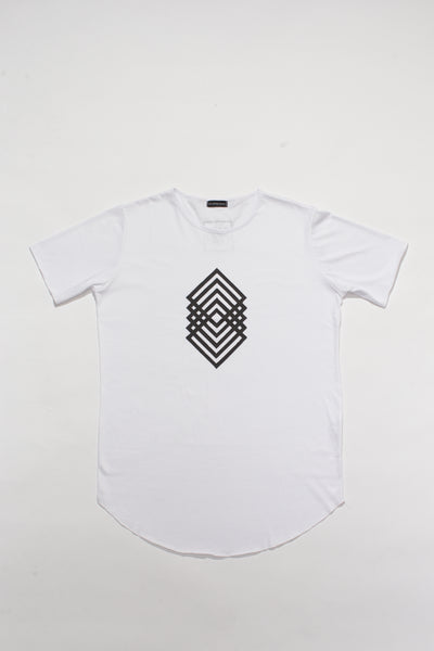 Egg London Abstract Lines White T-shirt