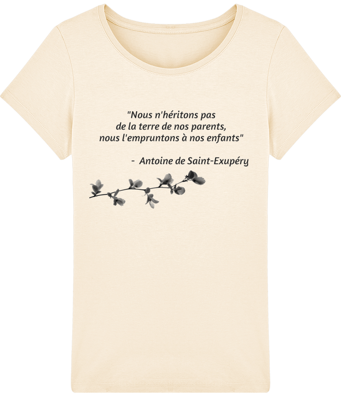 T-shirt Femme Stella Citation Saint-Exupéry