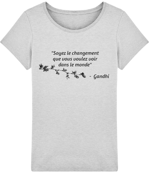 T-shirt Femme Stella Citation Gandhi