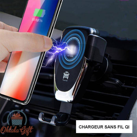 Support et chargeur QI rapide 10W - OhlalaGift.com