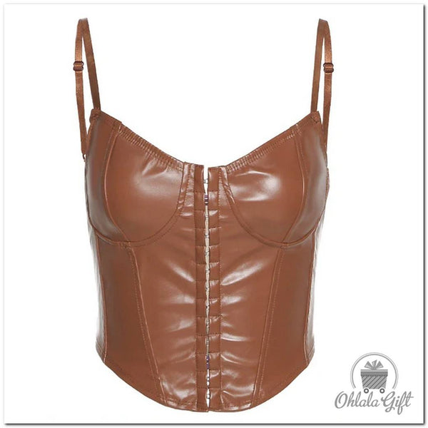 Bustier faux cuir sexy