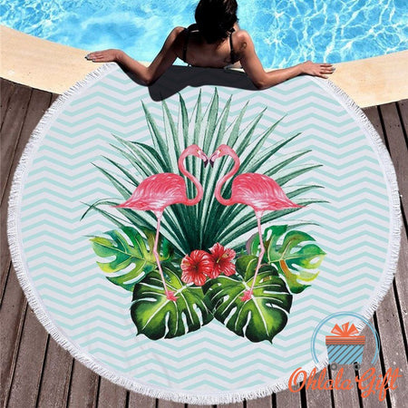 Drap de plage Flamands Rose Duo - OhlalaGift.com