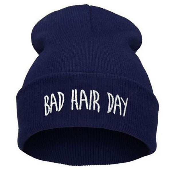 Bonnet femme message Bad hair day - OhlalaGift.com