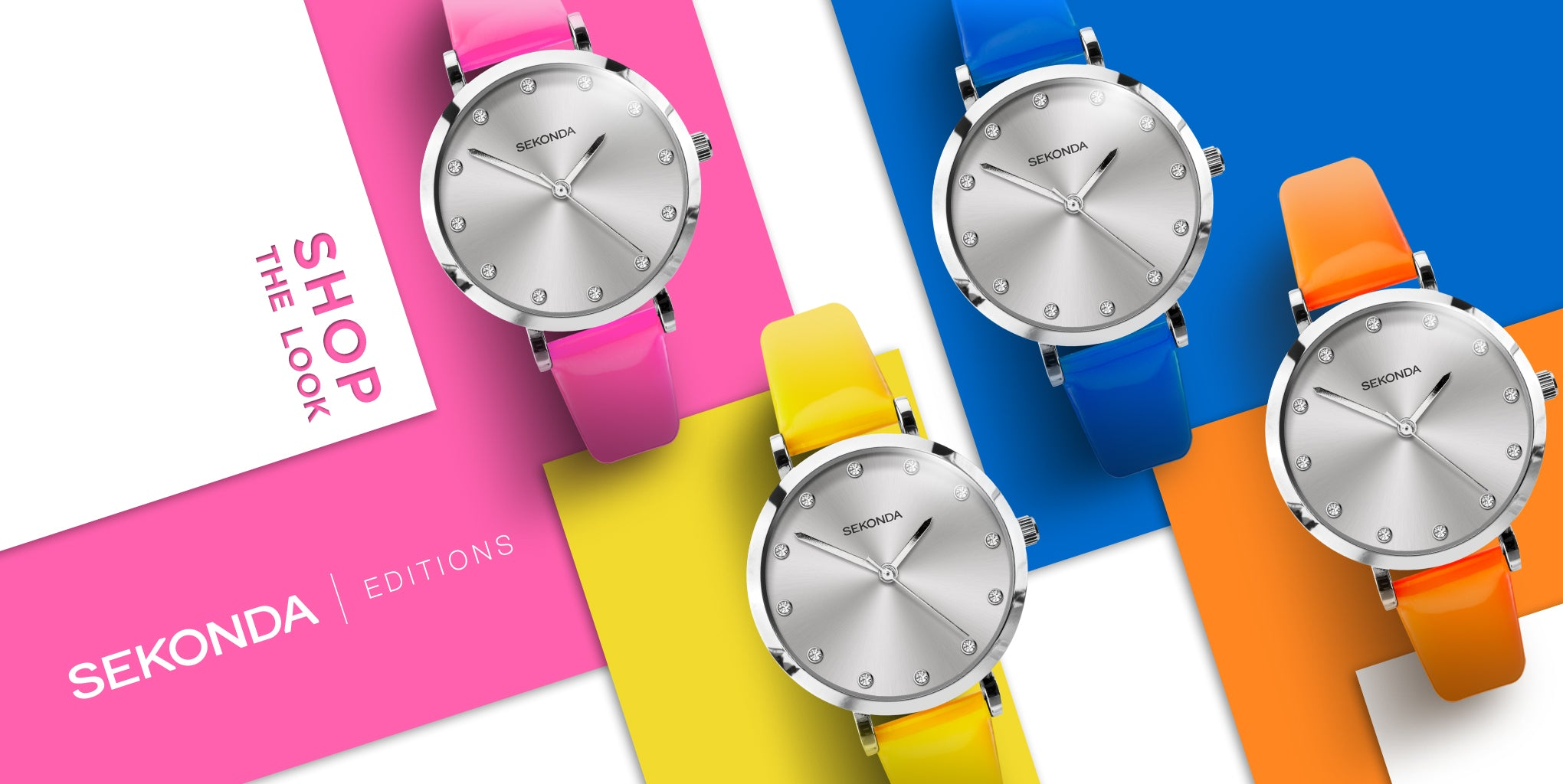 Sekonda Editions New in Neon Straps