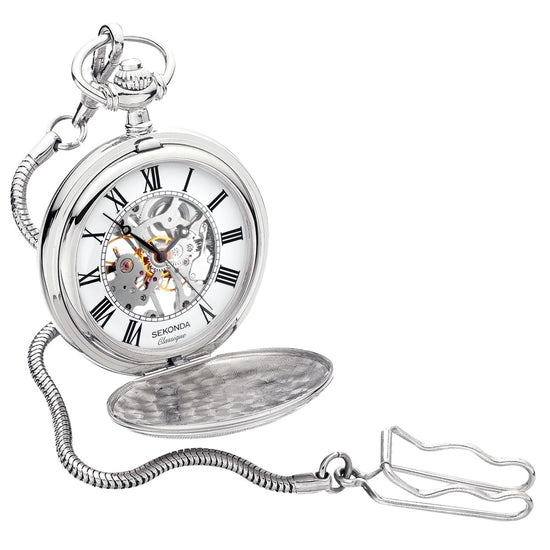 Sekonda Classique Mechanical Pocket Watch Front View