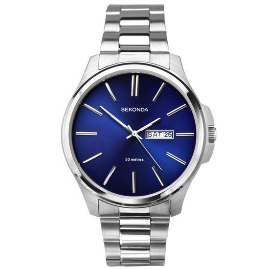 Sekonda Men's Classic Stainless Steel Bracelet Watch - 1224 Front View