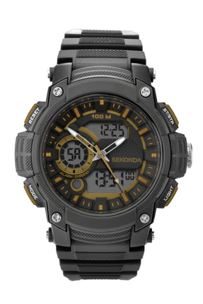 Sekonda Men's Black Strap Digital Watch