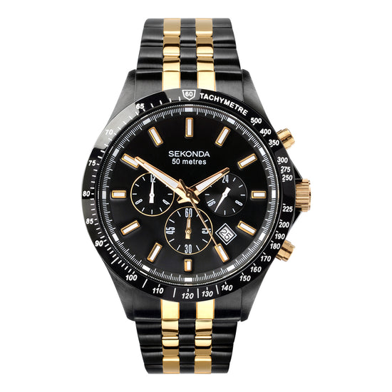 Sekonda Men's Two-Tone Dual Time Watch