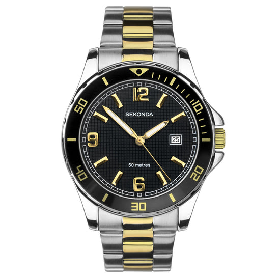Sekonda Men's Two-Tone Bracelet Sports Watch
