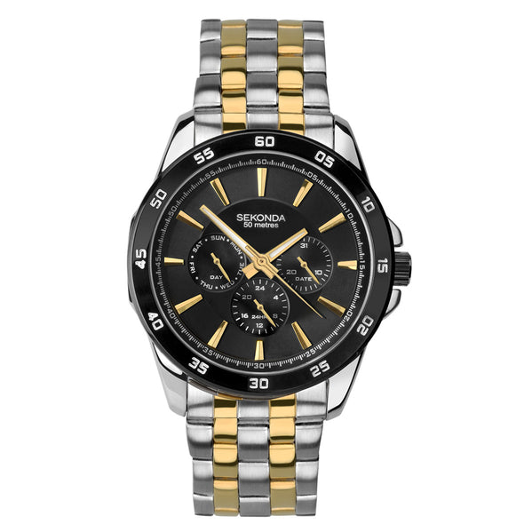 Sekonda Men's Classic Two-Tone Multi-Function Watch Front View
