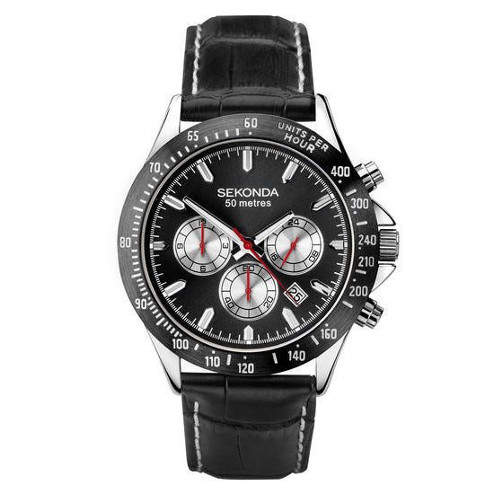 Sekonda Men's Classic Dual-Time Strap Watch